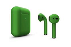 Беспроводная гарнитура Apple AirPods 2 Color беспроводная зарядка чехла (Зеленый матовый)