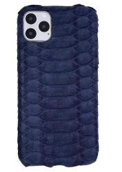 Чехол-накладка кожаная для iPhone 11 Pro Max No Logo Питон (Синий)