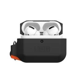Чехол для AirPods Pro UAG Silicone Case (Чёрный / оранжевый)
