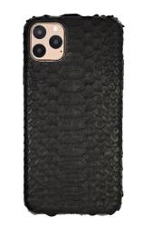 Чехол-накладка кожаная для iPhone 11 Pro Max No Logo Питон (Черный)
