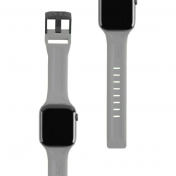 Ремешок силиконовый для Apple Watch 42/ 44мм UAG Scout (Сильвер)
