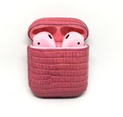 Беспроводная гарнитура Apple AirPods 2 IGUANA MAX беспроводная зарядка чехла (Розовый)