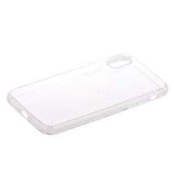 Чехол силиконовый для iPhone X (5.8) уплотненный (Прозрачный)