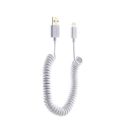 USB дата-кабель Deppa витой 8-pin Lightning 2.0м (Белый)