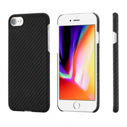 Кевларовый Чехол Pitaka для Apple IPhone 8 в полоску (Черно-Серый)