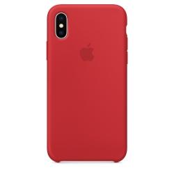 Силиконовый чехол для iPhone X (Красный)