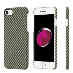 Кевларовый Чехол Pitaka для Apple IPhone 8 в полоску (Черно-Зеленый)