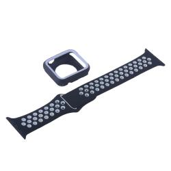 Ремешок спортивный для Apple Watch 38mm COTEetCI W32 (Черно-Белый)