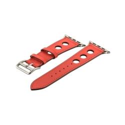 Ремешок кожаный для Apple Watch 42/ 44мм COTEetCI W15 Fashion с отверстиями (Красный)