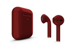 Беспроводная гарнитура Apple AirPods 2 Color беспроводная зарядка чехла (Бордовый глянцевый)