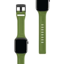 Ремешок силиконовый для Apple Watch 42/ 44мм UAG Scout (Оливковый)