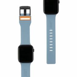 Ремешок силиконовый для Apple Watch 42/ 44мм UAG Civilian Strap (Синий/Оранжевый)