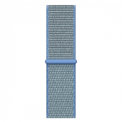 Ремешок для Apple Watch 38/ 40мм W17 Magic Tape Band (Tahoe Blue)