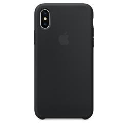 Силиконовый чехол для iPhone X/ XS (Чёрный)