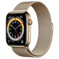 Часы Apple Watch Series 6 GPS + Cellular 44mm Gold Stainless Steel Case with Milanese Loop