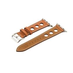 Ремешок кожаный для Apple Watch 38/ 40мм COTEetCI W15 Fashion с отверстиями (Коричневый)